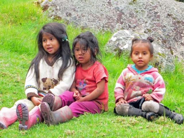 We passed these cute kids on the train back to Cusco