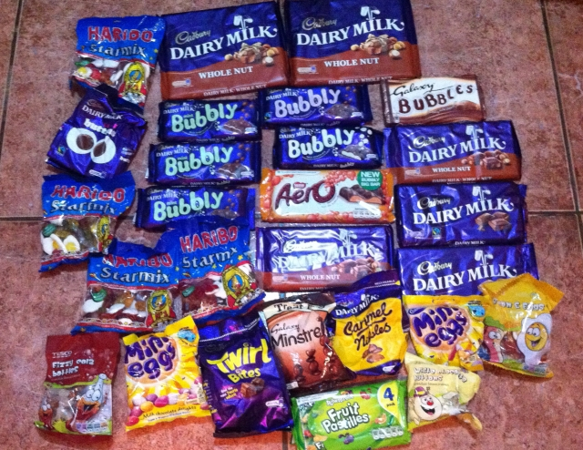 Treats galore...the mini eggs didn't last long!